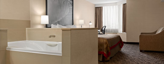 Ramada by Wyndham Niagara Falls Near the Falls - 1 King Bed Whirlpool Suite - Dining Voucher Included